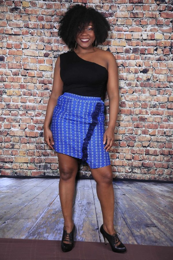"The short blue skirt ""Trapèze"""